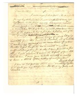 "Genealogy of William Mortay-Charse, Hugh and Ann Fraser, ""Dear Brother"" letter"