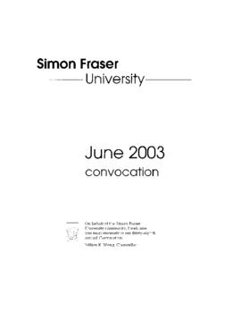 2003 June convocation program