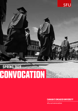 SFU Spring 2019 Convocation