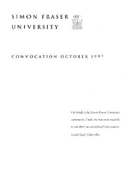 1997 Oct convocation program