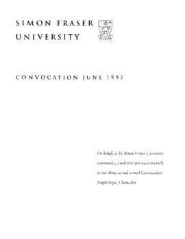1997 June convocation program