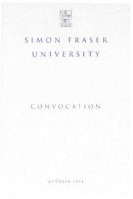 1994 Oct convocation program