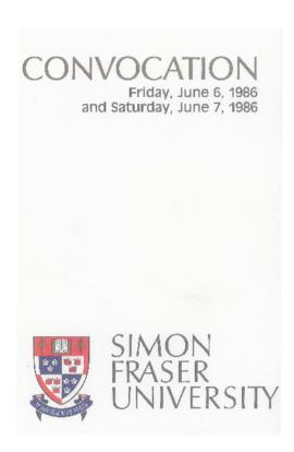 1986 June 6-7 convocation program