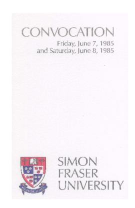 1985 June 7-8 convocation program