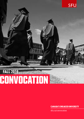 SFU Fall 2019 Convocation