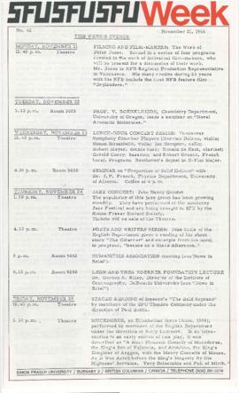 SFU Week No. 42, Nov 21, 1966