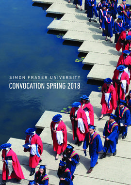 Simon Fraser University Convocation June 2018