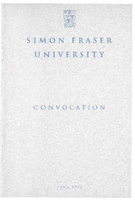 1992 June convocation program