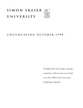 1998 Oct convocation program