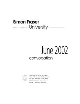 2002 June convocation program