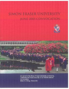 2005 June convocation program