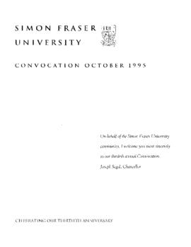 1995 Oct convocation program