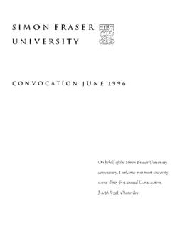 1996 June convocation program