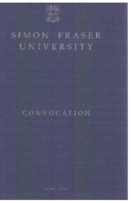 1991 June convocation program