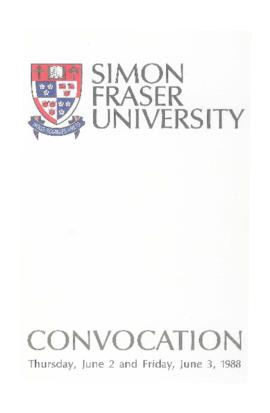 1988 June 2-3 convocation program