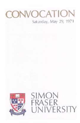 1971 May 29 convocation program