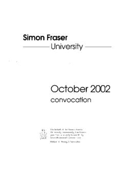 2002 Oct convocation program