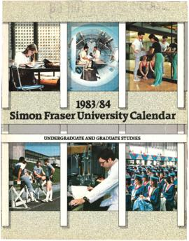 1983/84 Simon Fraser University Calendar: Undergraduate and Graduate Studies