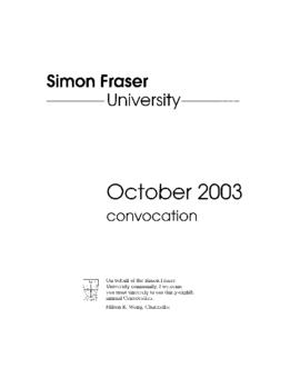 2003 Oct convocation program