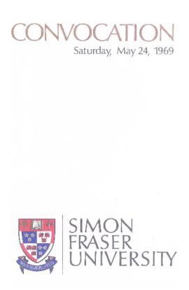 1969 May 24 convocation program
