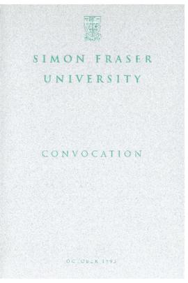 1993 October convocation program