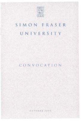 1992 Oct convocation program
