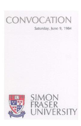 1984 June 9 convocation program