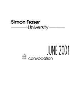 2001 June convocation program