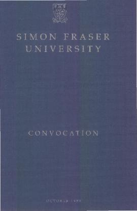 1991 Oct convocation program