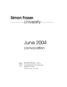 2004 June convocation program