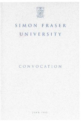 1993 June convocation program