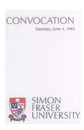 1983 June 4 convocation program