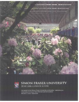 2006 June convocation program