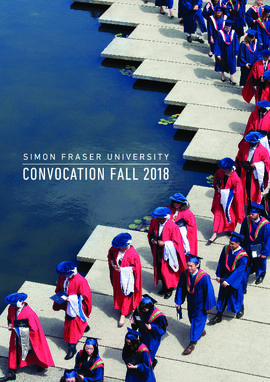 Simon Fraser University Convocation Fall 2018
