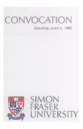 1982 June 5 convocation program