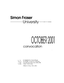 2001 Oct convocaton program