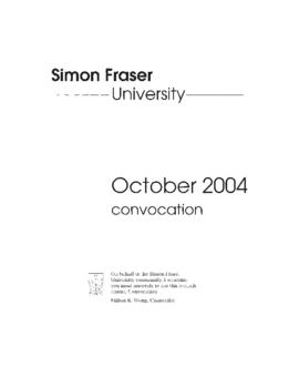 2004 Oct convocation program