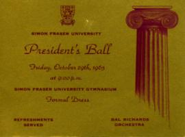 President's Ball ticket