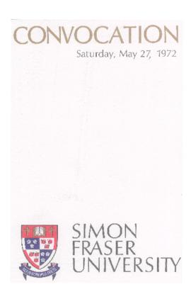 1972 May 27 convocation program