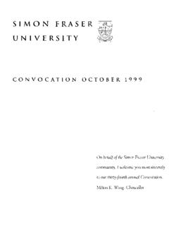 1999 Oct convocation program
