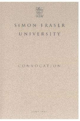 1994 June convocation program