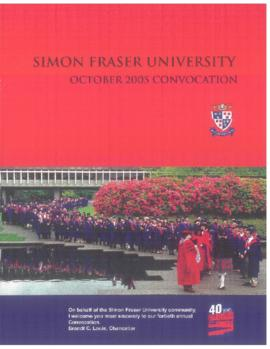 2005 Oct convocation program
