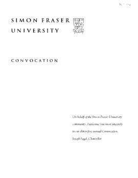 1996 Oct convocation program