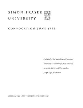 1995 June convocation program