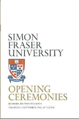 SFU opening ceremonies program book