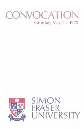 1970 May 23 convocation program