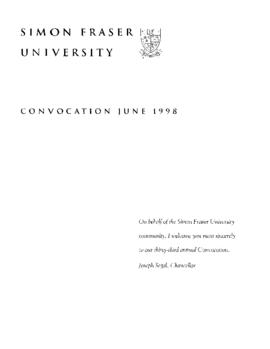 1998 June convocation program